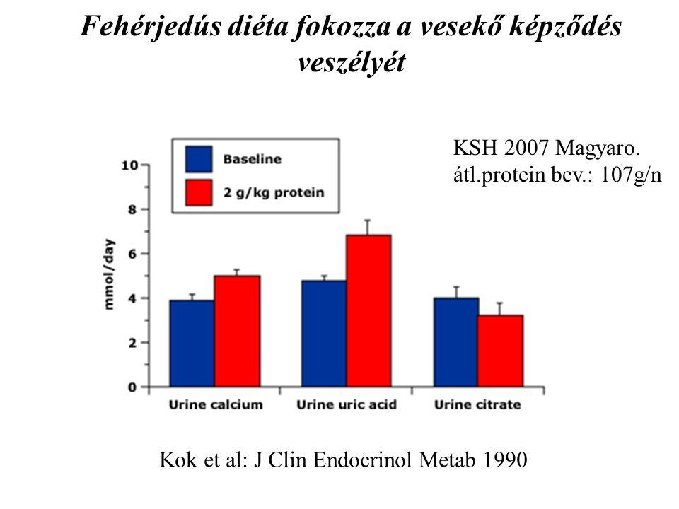 Fehérjedús diéta fokozza a vesekő képződés veszélyét