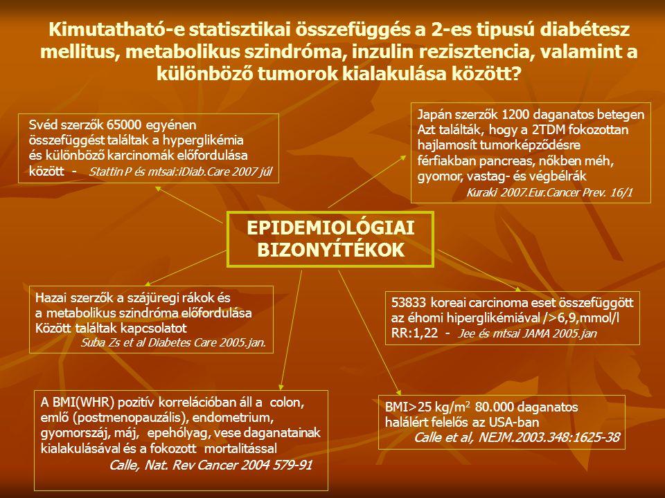 EPIDEMIOLÓGIAI BIZONYÍTÉKOK