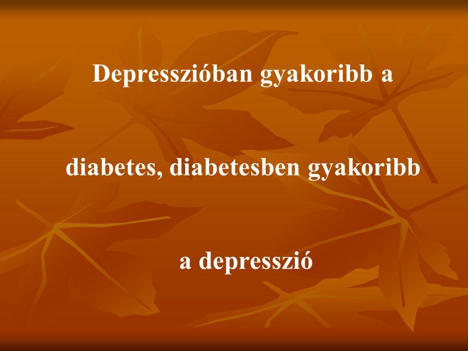 Depresszióban gyakoribb a diabetes, diabetesben gyakoribb
