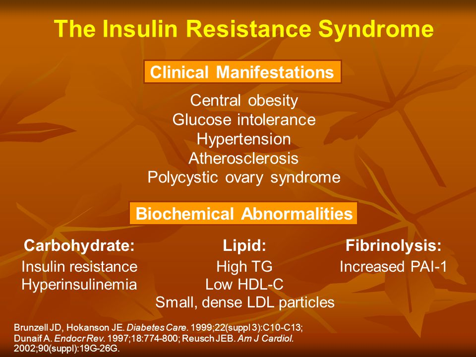 The Insulin Resistance Syndrome