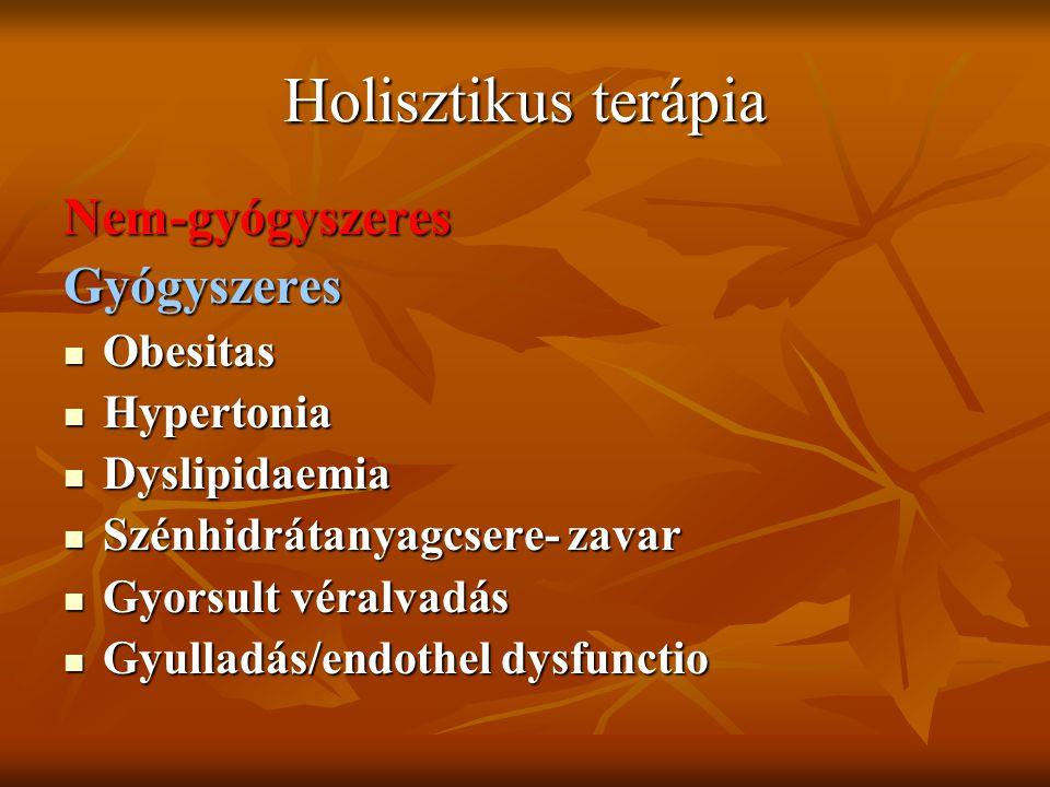 Holisztikus terápia Nem-gyógyszeres Gyógyszeres Obesitas Hypertonia