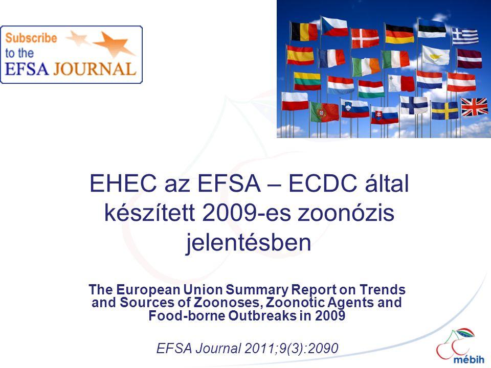 EHEC az EFSA – ECDC által készített 2009-es zoonózis jelentésben