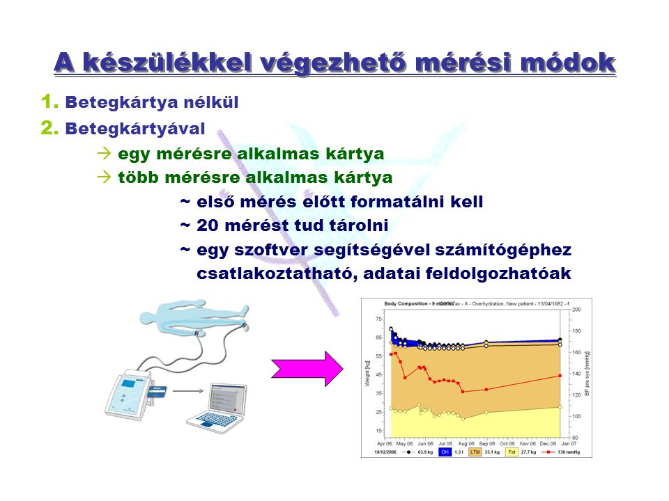 A készülékkel végezhető mérési módok