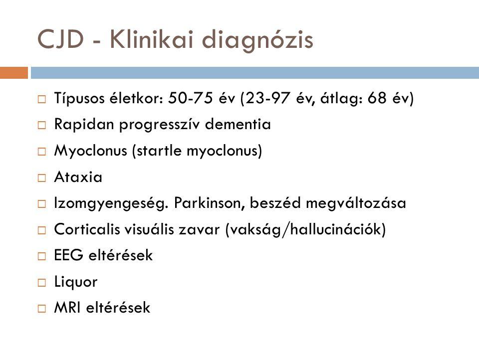CJD - Klinikai diagnózis