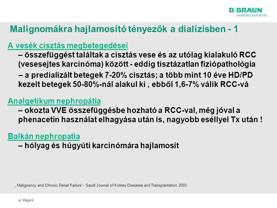Malignomákra hajlamosító tényezők a dialízisben - 1