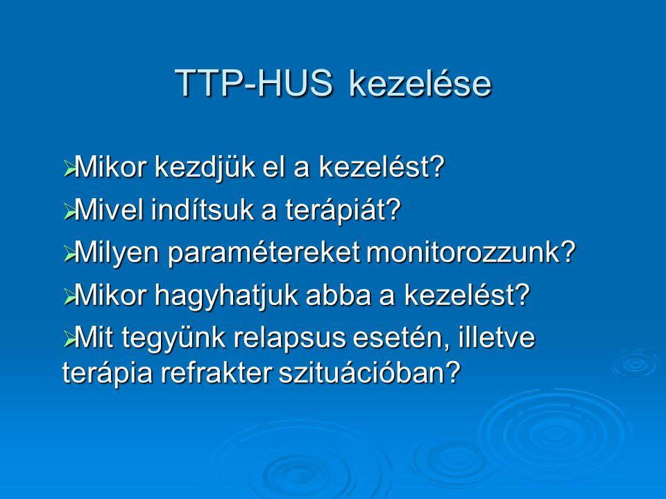 TTP-HUS kezelése Mikor kezdjük el a kezelést
