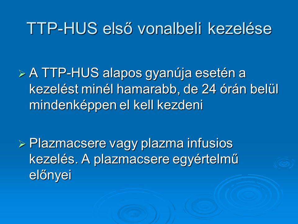 TTP-HUS első vonalbeli kezelése