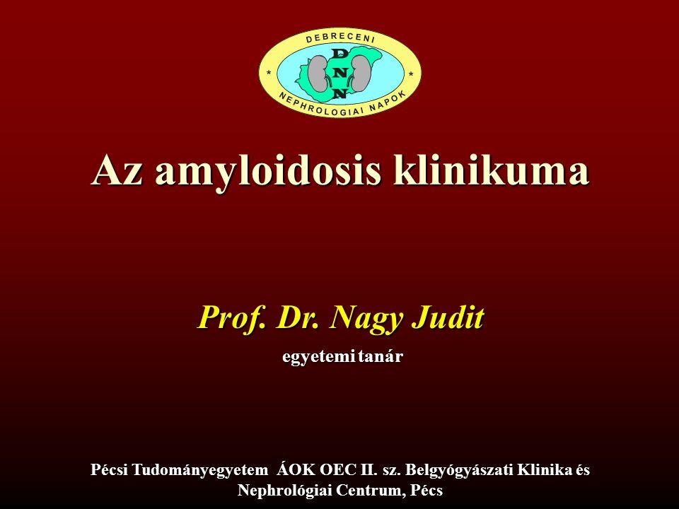 Az amyloidosis klinikuma