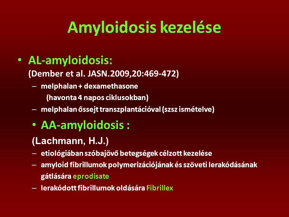 Amyloidosis kezelése AL-amyloidosis: (Dember et al. JASN.2009,20:469-472)