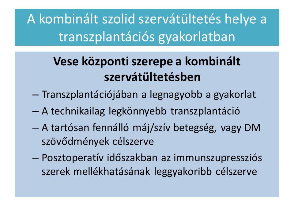 Vese központi szerepe a kombinált szervátültetésben