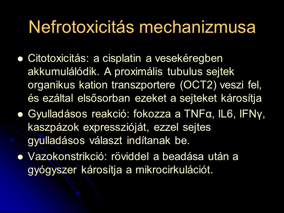 Nefrotoxicitás mechanizmusa