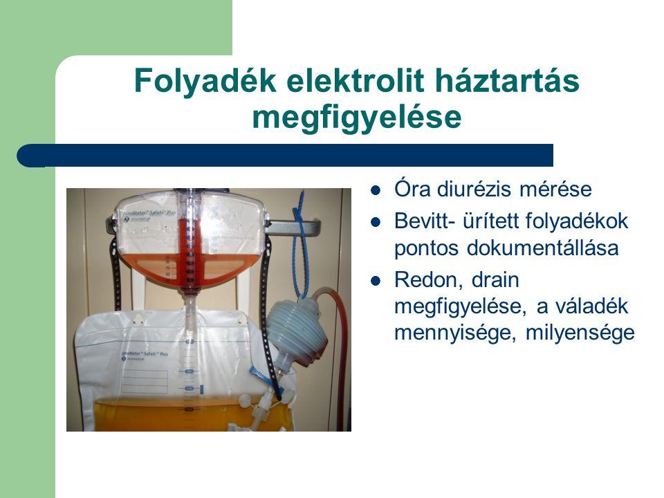 Folyadék elektrolit háztartás megfigyelése