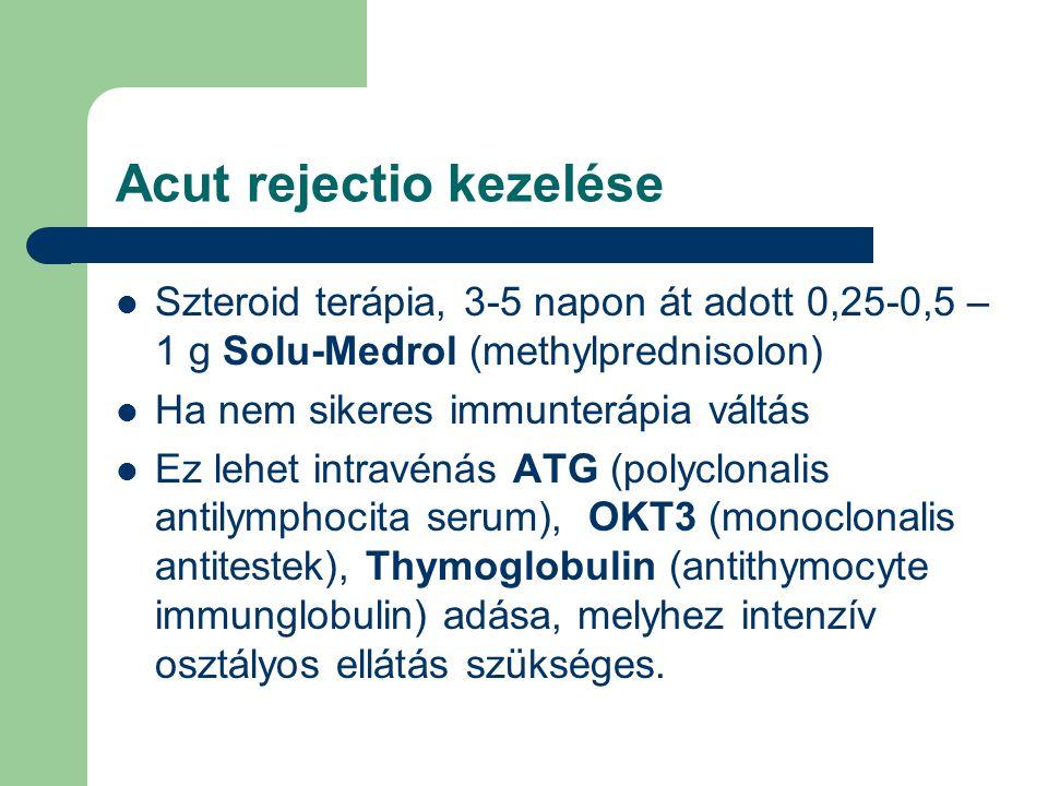 Acut rejectio kezelése