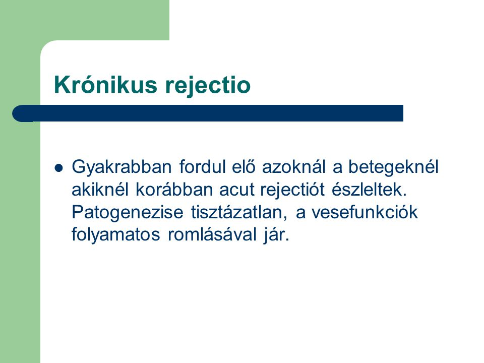 Krónikus rejectio