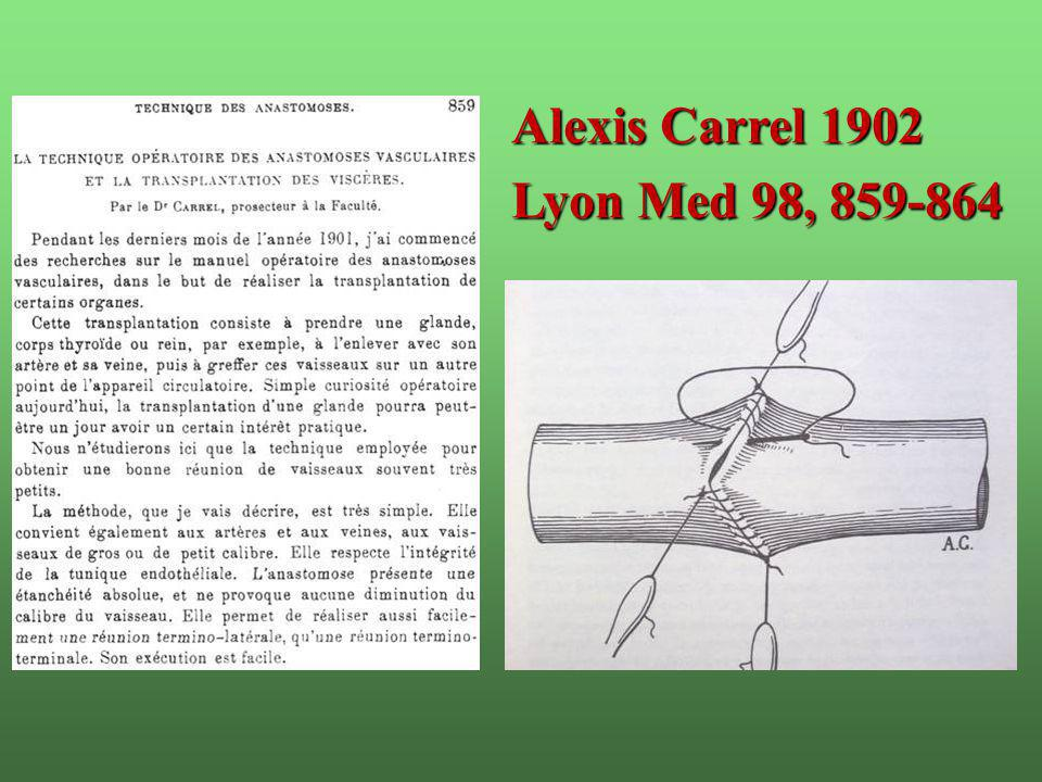 Alexis Carrel 1902 Lyon Med 98, 859-864