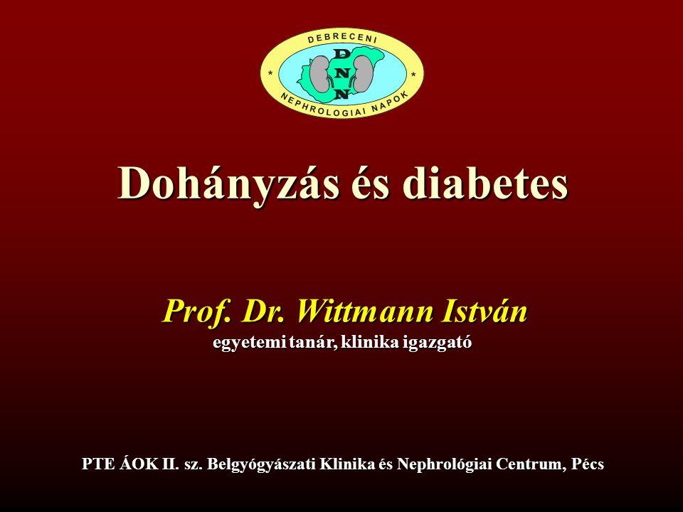 Dohányzás és diabetes Prof. Dr. Wittmann István