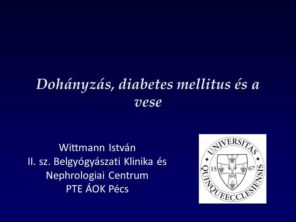 Dohányzás, diabetes mellitus és a vese