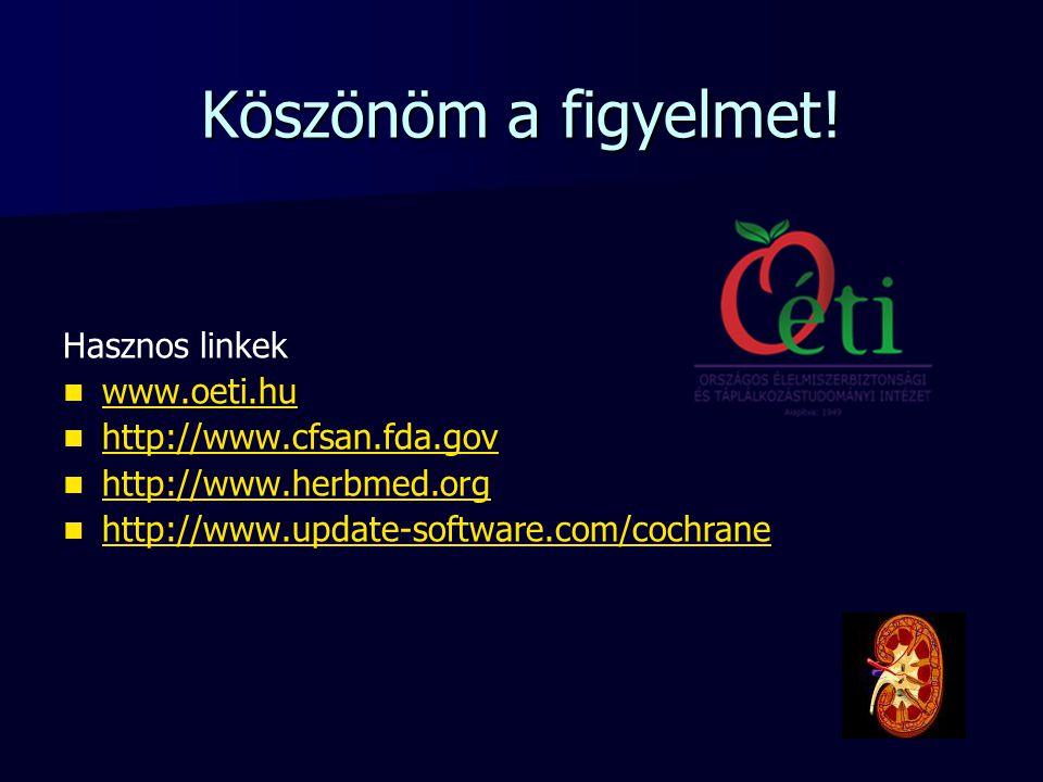 Köszönöm a figyelmet! Hasznos linkek www.oeti.hu