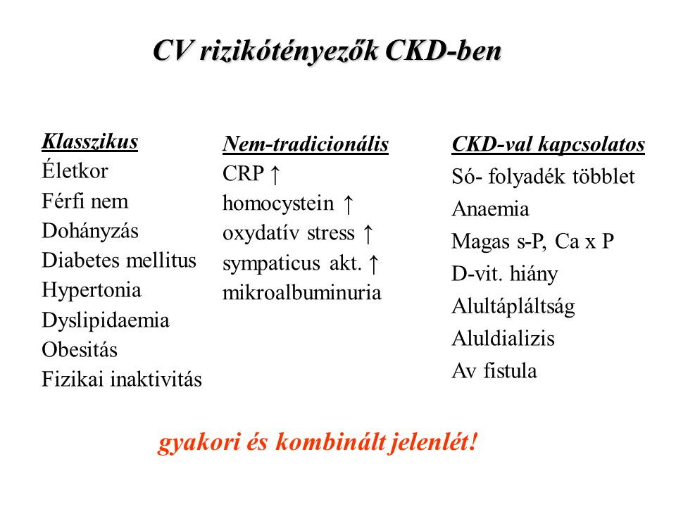 CV rizikótényezők CKD-ben
