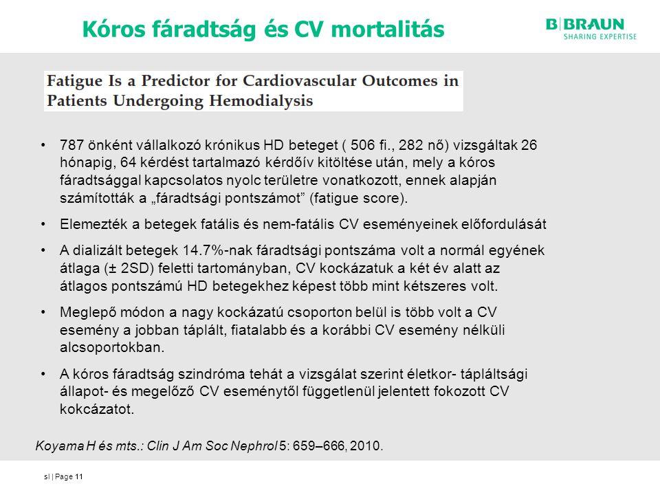 Kóros fáradtság és CV mortalitás