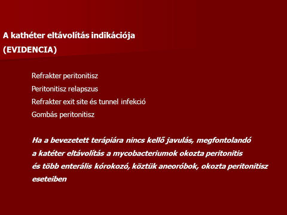 A kathéter eltávolítás indikációja (EVIDENCIA)