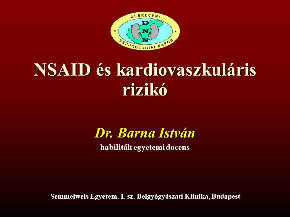 NSAID és kardiovaszkuláris rizikó