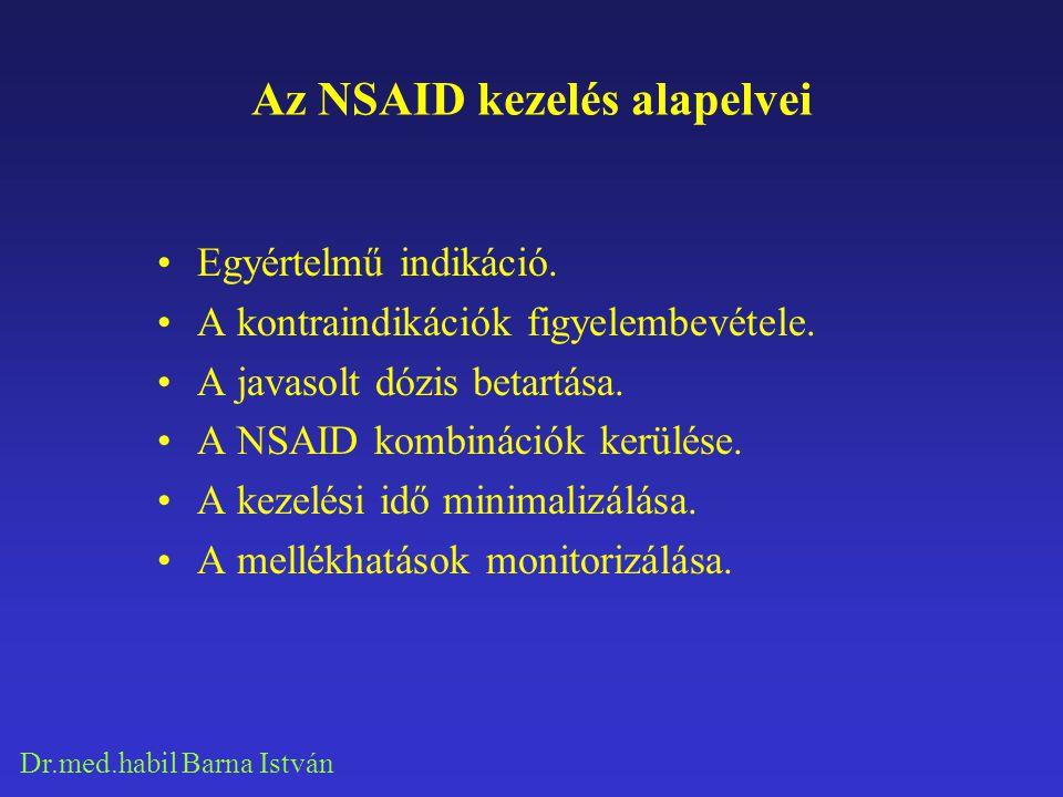 Az NSAID kezelés alapelvei