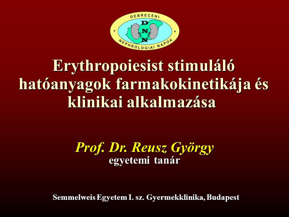 Erythropoiesist stimuláló hatóanyagok farmakokinetikája és