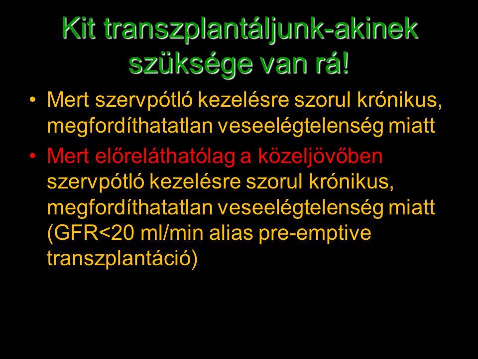 Kit transzplantáljunk-akinek szüksége van rá!