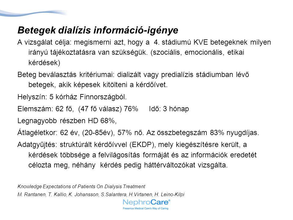 Betegek dialízis információ-igénye