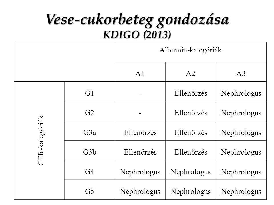 Vese-cukorbeteg gondozása KDIGO (2013)