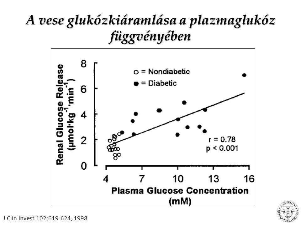 A vese glukózkiáramlása a plazmaglukóz függvényében