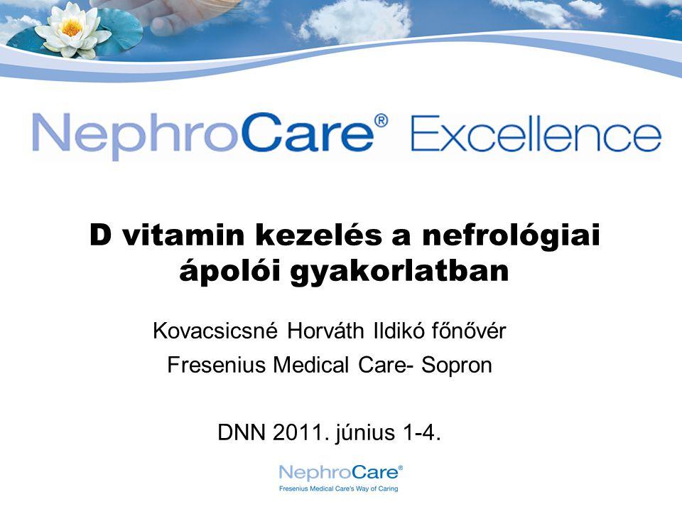 D vitamin kezelés a nefrológiai ápolói gyakorlatban