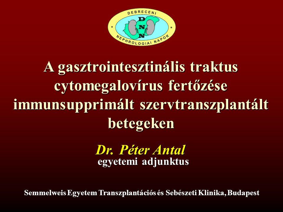 A gasztrointesztinális traktus cytomegalovírus fertőzése
