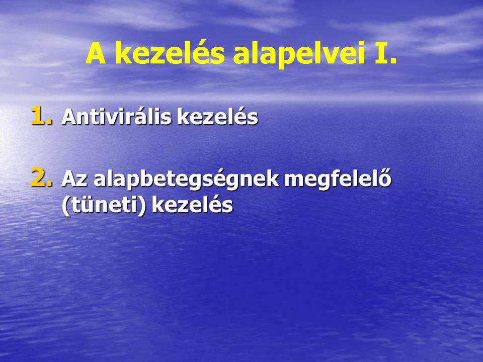 A kezelés alapelvei I. Antivirális kezelés