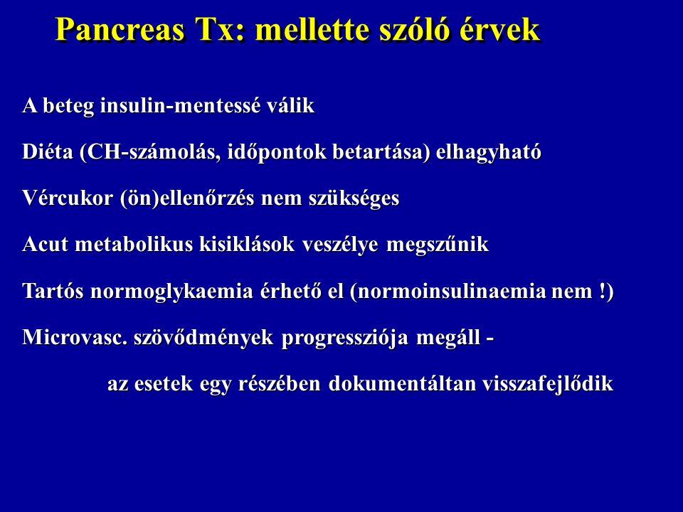 Pancreas Tx: mellette szóló érvek