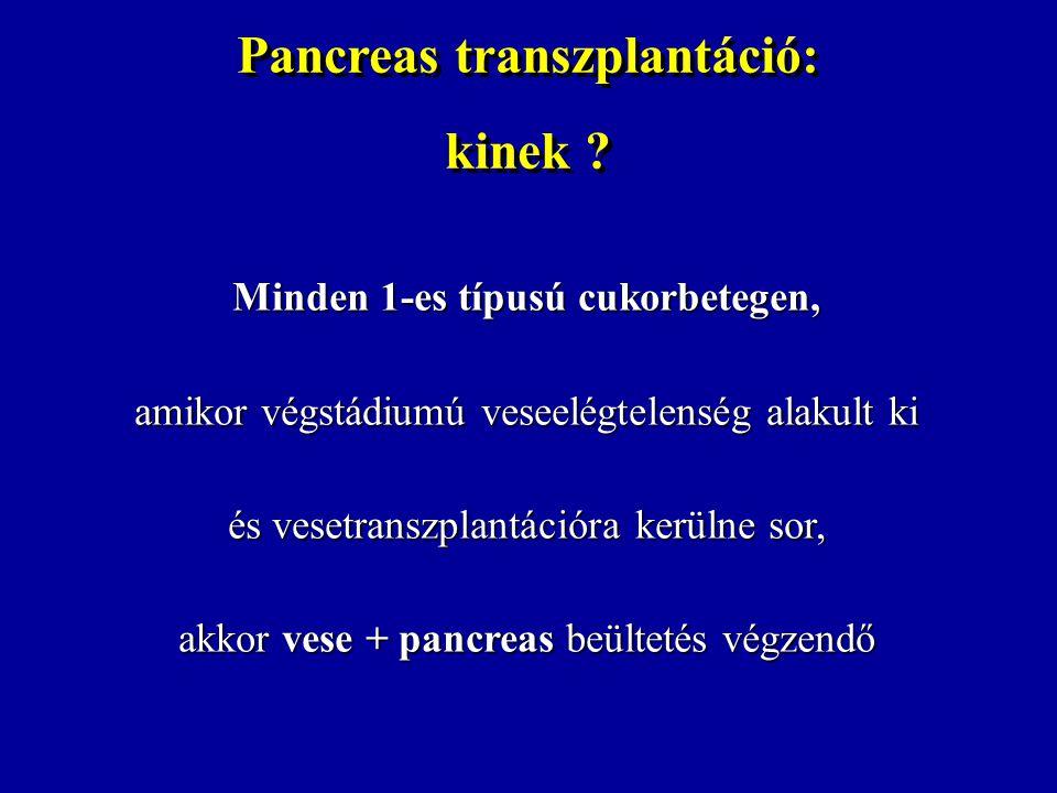 Pancreas transzplantáció: