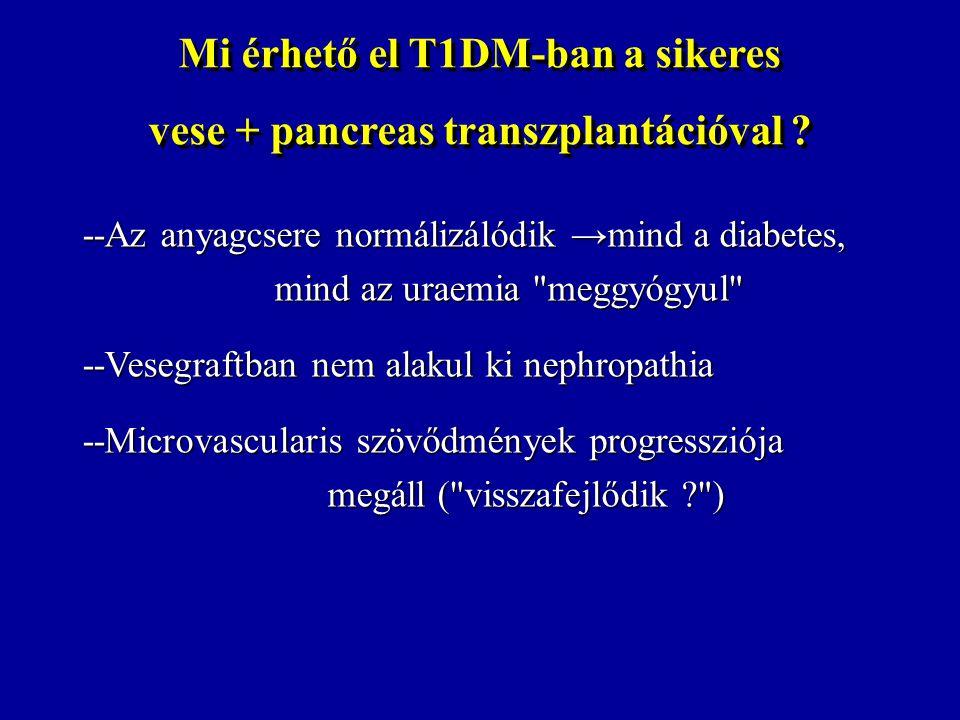 Mi érhető el T1DM-ban a sikeres vese + pancreas transzplantációval