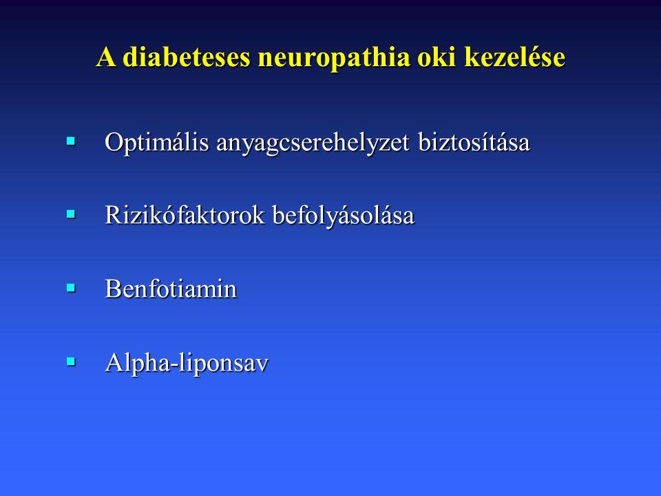 A diabeteses neuropathia oki kezelése