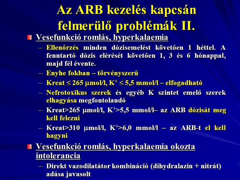 Az ARB kezelés kapcsán felmerülő problémák II.