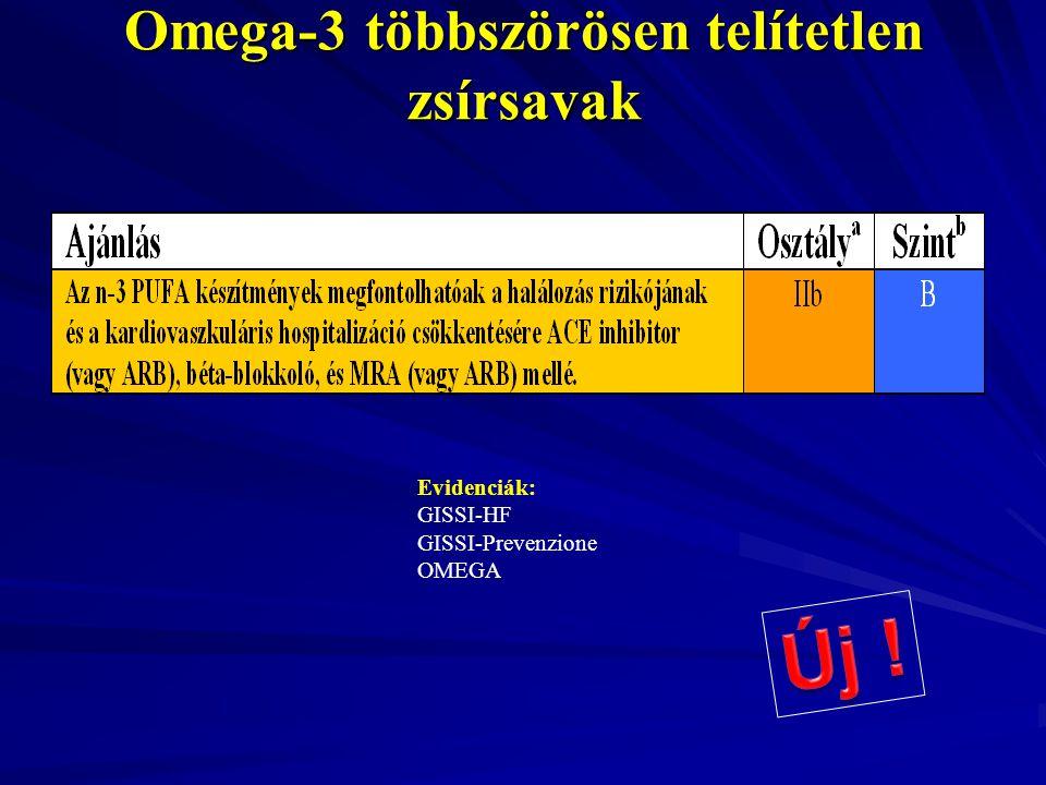 Omega-3 többszörösen telítetlen zsírsavak