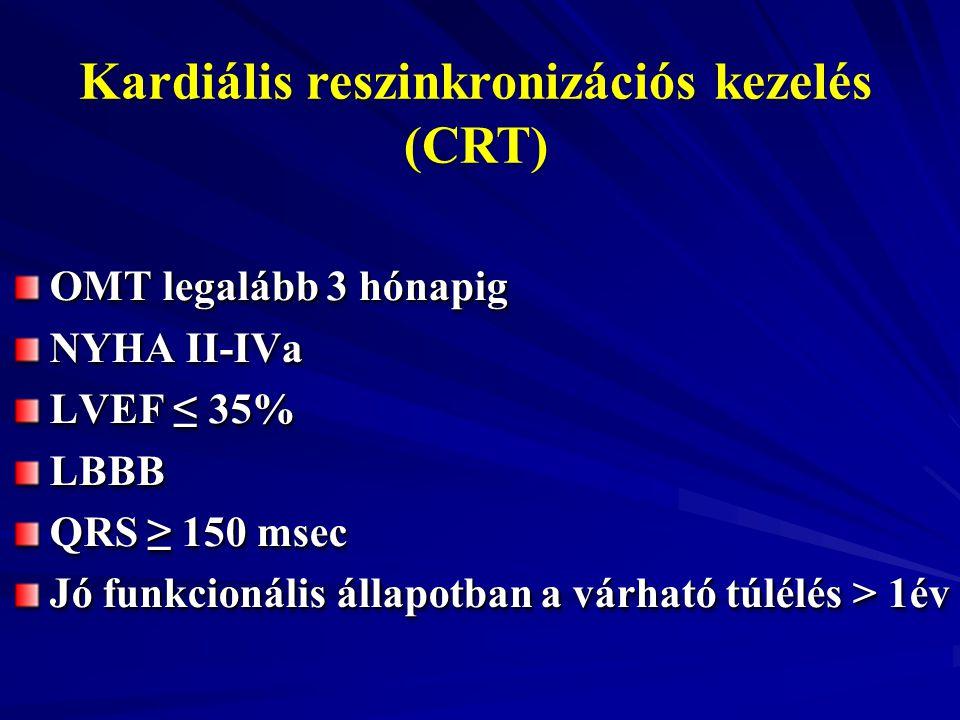 Kardiális reszinkronizációs kezelés (CRT)