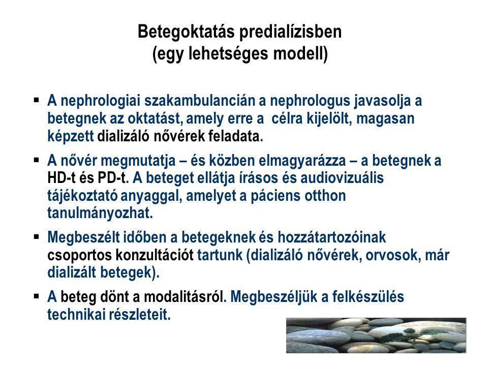 Betegoktatás predialízisben (egy lehetséges modell)