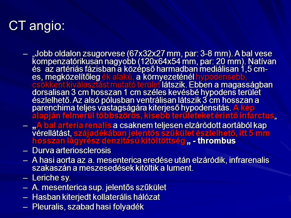 CT angio: