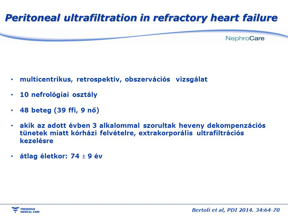 Peritoneal ultrafiltration in refractory heart failure