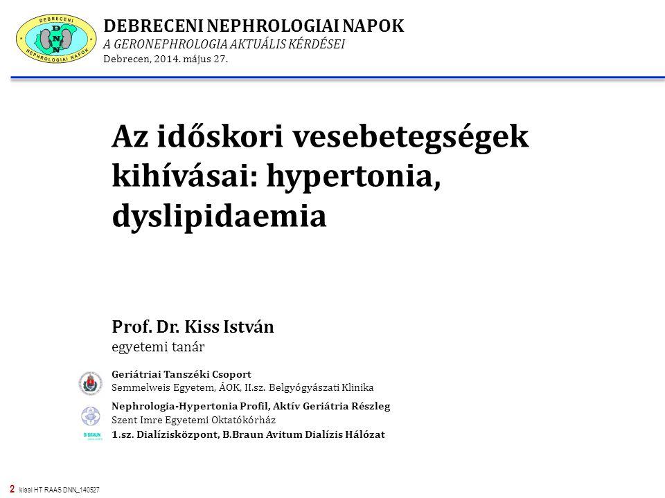 Az időskori vesebetegségek kihívásai: hypertonia, dyslipidaemia
