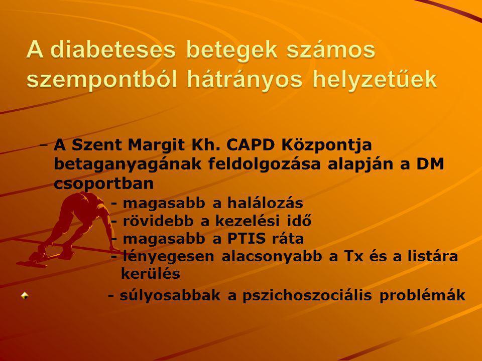 A diabeteses betegek számos szempontból hátrányos helyzetűek