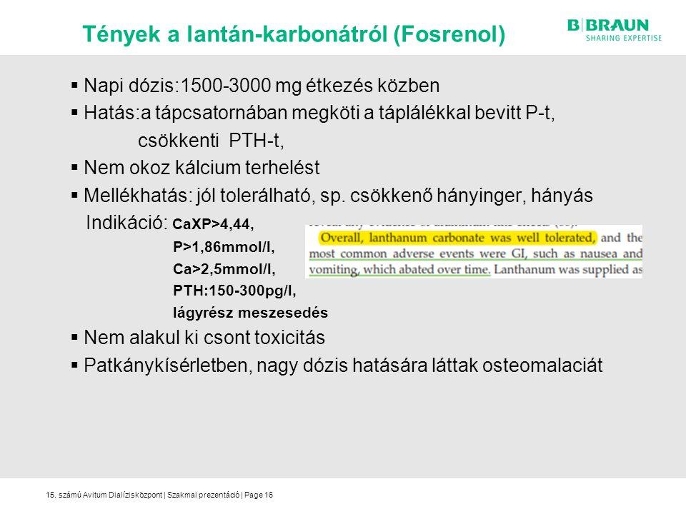 Tények a lantán-karbonátról (Fosrenol)