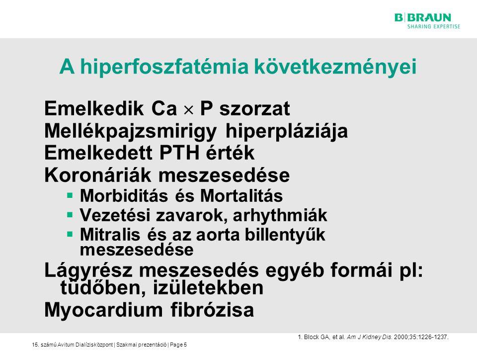 A hiperfoszfatémia következményei
