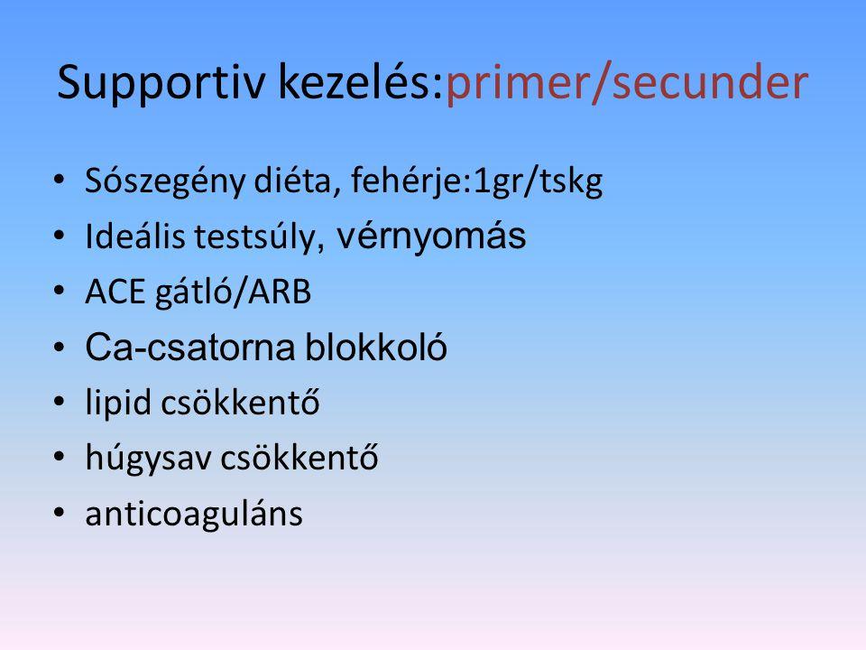Supportiv kezelés:primer/secunder